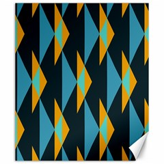 Yellow Blue Triangles Pattern                                                        			canvas 20  X 24  by LalyLauraFLM