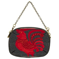 Red Fire Chicken Year Chain Purses (two Sides)  by Valentinaart