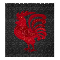 Red Fire Chicken Year Shower Curtain 66  X 72  (large)  by Valentinaart