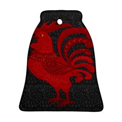 Red Fire Chicken Year Bell Ornament (two Sides) by Valentinaart