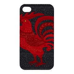 Red Fire Chicken Year Apple Iphone 4/4s Hardshell Case by Valentinaart