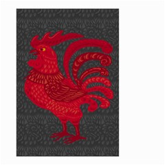Red Fire Chicken Year Small Garden Flag (two Sides)