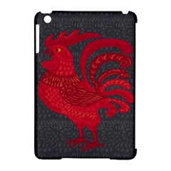 Red Fire Chicken Year Apple Ipad Mini Hardshell Case (compatible With Smart Cover) by Valentinaart