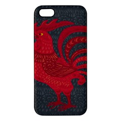 Red Fire Chicken Year Apple Iphone 5 Premium Hardshell Case by Valentinaart
