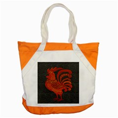 Chicken Year Accent Tote Bag by Valentinaart