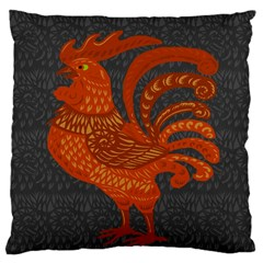 Chicken Year Large Cushion Case (one Side) by Valentinaart