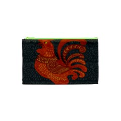 Chicken Year Cosmetic Bag (xs) by Valentinaart