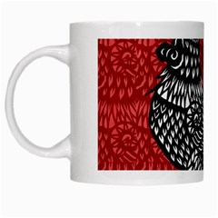 Year Of The Rooster White Mugs by Valentinaart