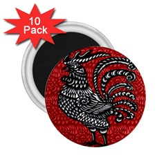 Year Of The Rooster 2 25  Magnets (10 Pack)  by Valentinaart