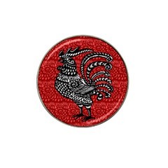 Year Of The Rooster Hat Clip Ball Marker (4 Pack) by Valentinaart