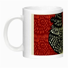 Year Of The Rooster Night Luminous Mugs by Valentinaart
