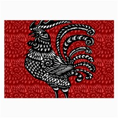 Year Of The Rooster Large Glasses Cloth by Valentinaart