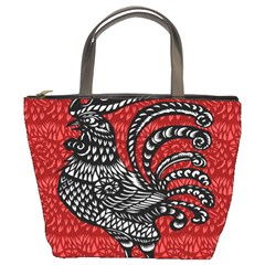 Year Of The Rooster Bucket Bags by Valentinaart