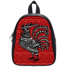 Year Of The Rooster School Bags (small)  by Valentinaart