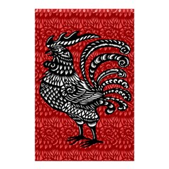 Year Of The Rooster Shower Curtain 48  X 72  (small)  by Valentinaart