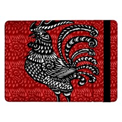 Year Of The Rooster Samsung Galaxy Tab Pro 12 2  Flip Case by Valentinaart