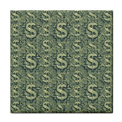 Money Symbol Ornament Tile Coasters