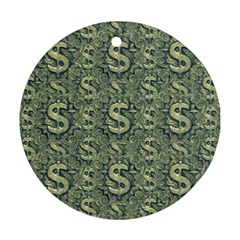 Money Symbol Ornament Round Ornament (two Sides) by dflcprintsclothing