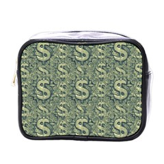 Money Symbol Ornament Mini Toiletries Bags by dflcprintsclothing