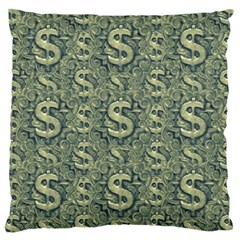 Money Symbol Ornament Large Cushion Case (two Sides)