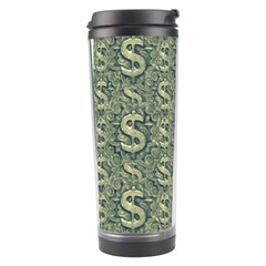 Money Symbol Ornament Travel Tumbler by dflcprintsclothing
