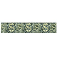 Money Symbol Ornament Flano Scarf (large) by dflcprintsclothing