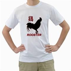 Year Of The Rooster - Chinese New Year Men s T-shirt (white) (two Sided) by Valentinaart