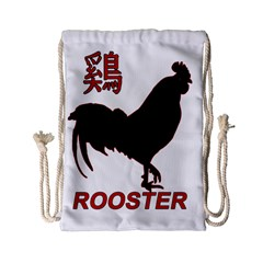 Year Of The Rooster   Chinese New Year Drawstring Bag (small) by Valentinaart