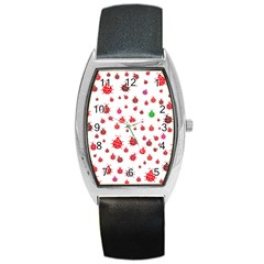 Beetle Animals Red Green Fly Barrel Style Metal Watch by Amaryn4rt