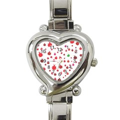 Beetle Animals Red Green Fly Heart Italian Charm Watch by Amaryn4rt