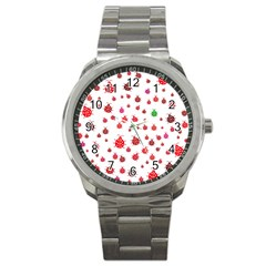 Beetle Animals Red Green Fly Sport Metal Watch by Amaryn4rt