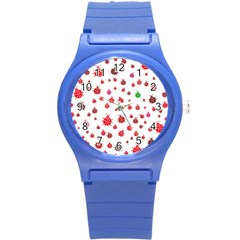 Beetle Animals Red Green Fly Round Plastic Sport Watch (s) by Amaryn4rt