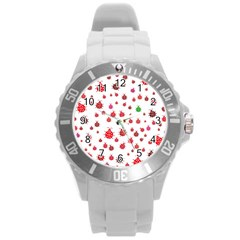 Beetle Animals Red Green Fly Round Plastic Sport Watch (l) by Amaryn4rt