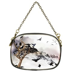 Birds Crows Black Ravens Wing Chain Purses (one Side)