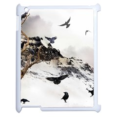 Birds Crows Black Ravens Wing Apple Ipad 2 Case (white) by Amaryn4rt