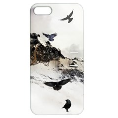 Birds Crows Black Ravens Wing Apple Iphone 5 Hardshell Case With Stand by Amaryn4rt