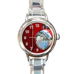 Antique Car Auto Roadster Old Round Italian Charm Watch