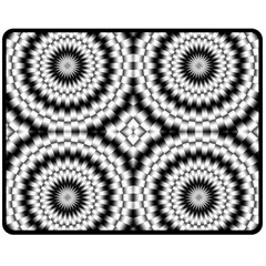 Pattern Tile Seamless Design Double Sided Fleece Blanket (medium)
