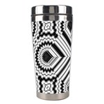Pattern Tile Seamless Design Stainless Steel Travel Tumblers Left
