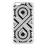 Pattern Tile Seamless Design Apple iPhone 6 Plus/6S Plus Enamel White Case Front