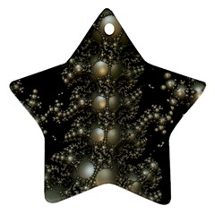 Fractal Math Geometry Backdrop Star Ornament (two Sides)