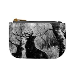 Stag Deer Forest Winter Christmas Mini Coin Purses by Amaryn4rt