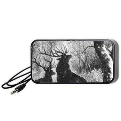 Stag Deer Forest Winter Christmas Portable Speaker (black) by Amaryn4rt