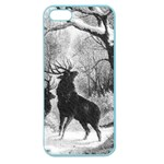 Stag Deer Forest Winter Christmas Apple Seamless iPhone 5 Case (Color) Front