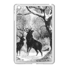 Stag Deer Forest Winter Christmas Apple Ipad Mini Case (white) by Amaryn4rt
