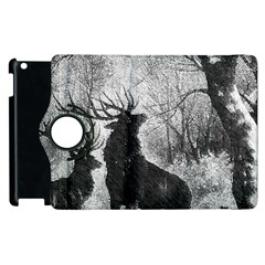 Stag Deer Forest Winter Christmas Apple Ipad 3/4 Flip 360 Case by Amaryn4rt