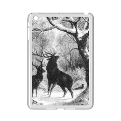 Stag Deer Forest Winter Christmas Ipad Mini 2 Enamel Coated Cases by Amaryn4rt