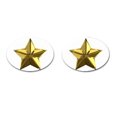 Stars Gold Color Transparency Cufflinks (oval)