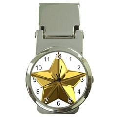 Stars Gold Color Transparency Money Clip Watches
