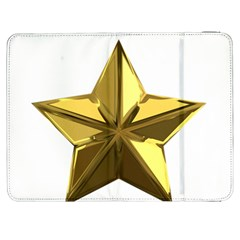 Stars Gold Color Transparency Samsung Galaxy Tab 7  P1000 Flip Case by Amaryn4rt